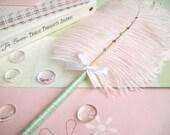 Ostrich Feather Pen-Light Pink/Mint Green