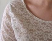 Long Sleeve Lace Blouse - Medium
