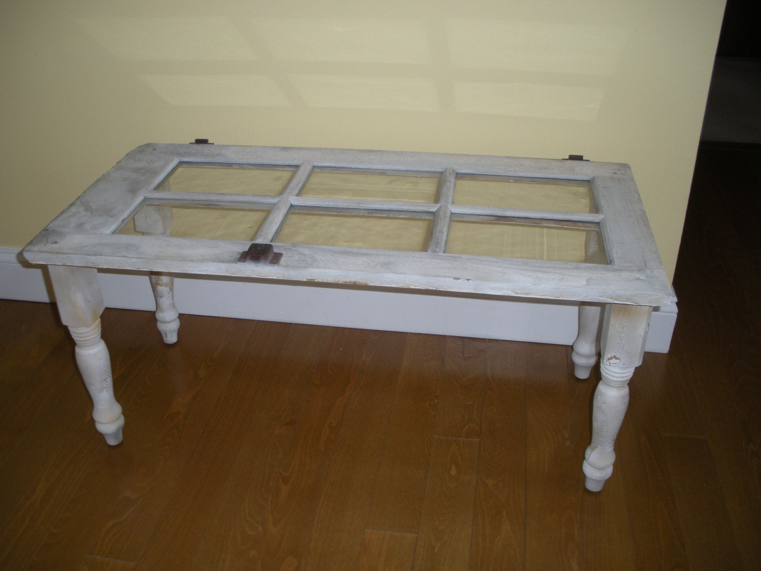 Coffee Table Made From Old Window