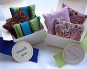 Mini Lavender Sachets Party Favors with Box Ribbon and Tag
