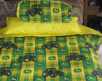 American Girl Inspired John Deere Bedding, Bedspread, Pillow, Top Sheet, Rug