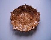 Cinnamon Lotus Bowl Cutout Spoon Rest