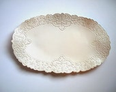Victorian Lace Oblong Wedding Serving Tray
