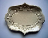 Oblong Victorian Ivory Ring Holder-  5 inch size