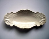 Natural or Almond Country Butter Tray or Spoon Rest