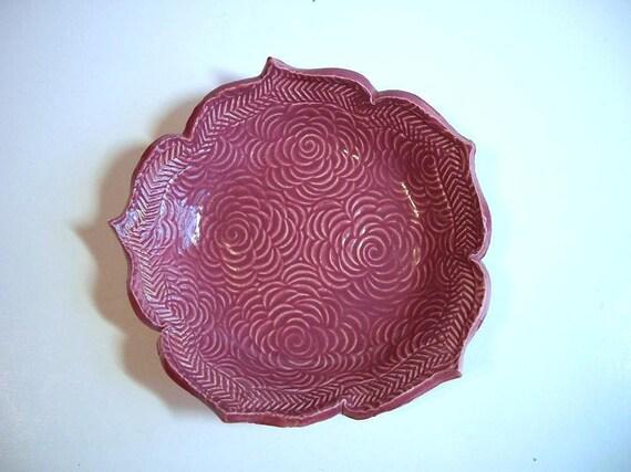 Swirly Rose Lotus Bowl