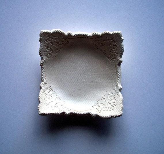 White Wedding Nut or Vanity Tray