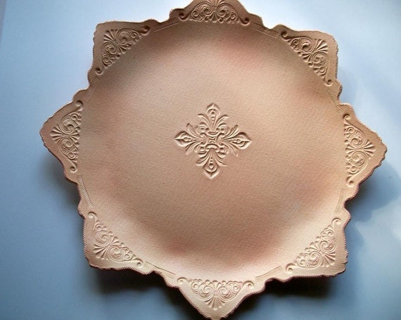 Peach Ornate 16 inch Serving Platter