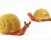 super sweet slimy snail and turtle garden figurines