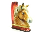 vintage Norleans equine bookend . classic and shabby . perfect gift for the horse lover or man cave