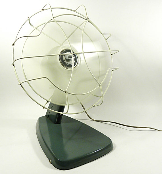 Modern Desk Fan : Vintage mid century modern metal desk fan by jetsetvintage