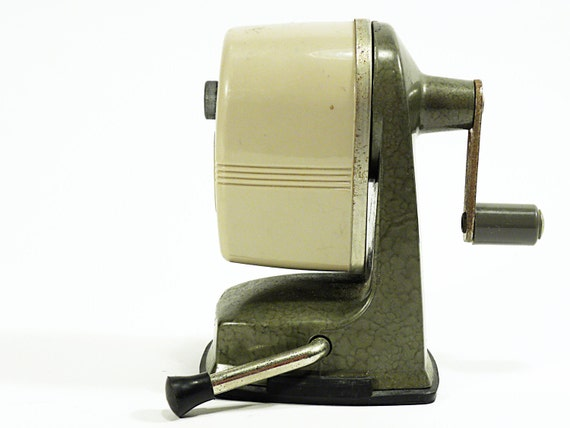 vintage industrial manual pencil sharpener . APSCO Vacu Base heavy duty sharpener