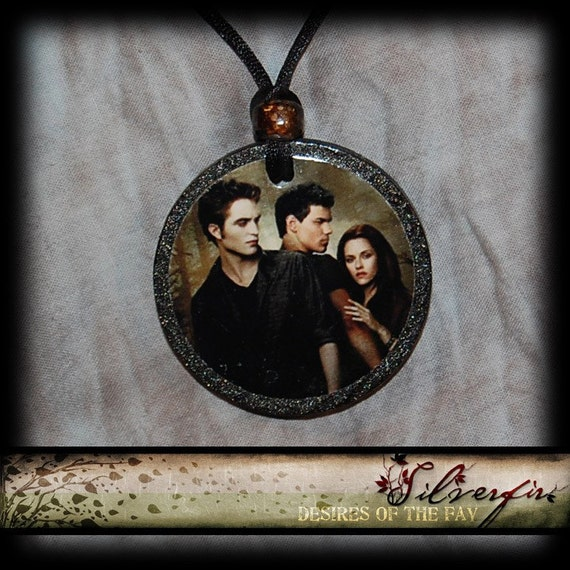 New Moon Movie Poster... Bella, Edward and Jacob...XL Pendent and Necklace... But 1 get 1 Free