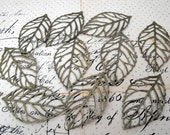 Antique Bronze Leaves - Pendants and Charms - 10 Pieces