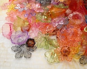 Beads - 50 Pieces Surprise Mix of Clear Acrylic Flowers