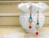 Earrings - Vintage Style Filigree Earrings