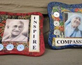 Recycled Game board piece Inspirational Magnet Set of Two.
