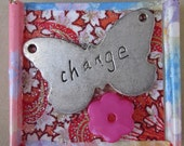 Recycled Handmade Inspirational Magnet