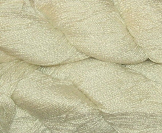 700 yards Merino and Silk Blend Yarn, 4-ply, Undyed, 6.8 oz, 195 grams