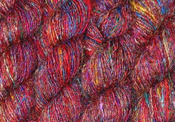 930 yards Sari Silk Yarn, Recycled SUPER PREMIUM Handspun, Fair Trade, 20 oz, 590 grams