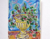 Greek Plant - Hand Painted Card