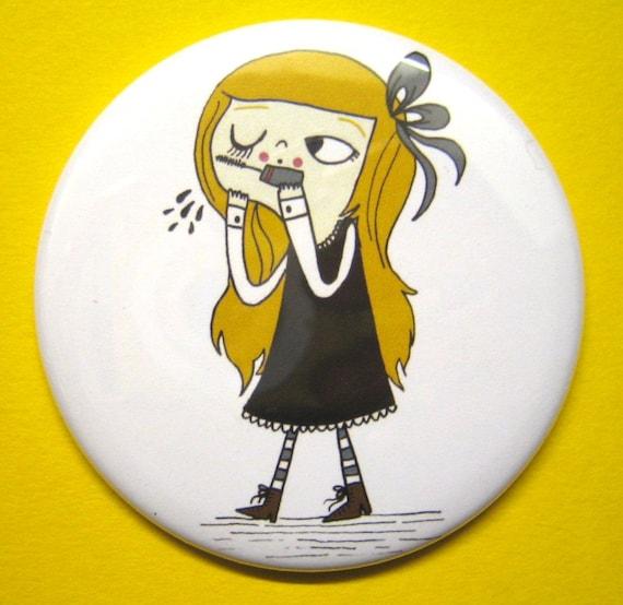 Mascara Girl Pocket Mirror