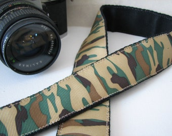 camera strap - Camouflage print (Extended Length)