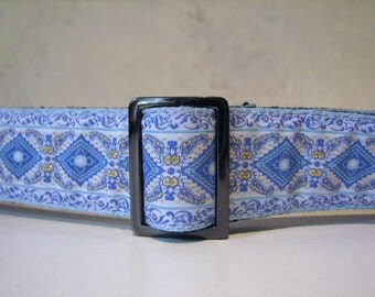 Powder Blue Jacquard Belt