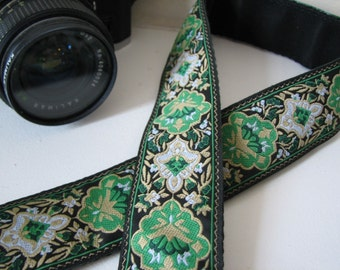 camera strap - Emerald design (Extended Length)