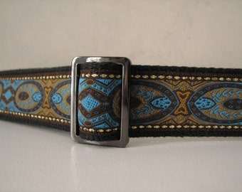 Turquoise and Gold ANNA  Belt