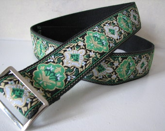 Handmade Green Women's Belt - Emerald