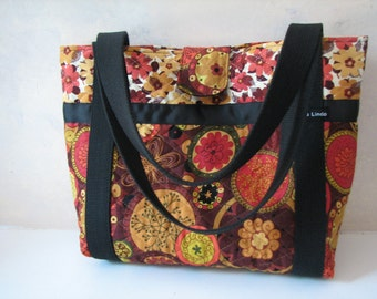 Autumn Floral Quilted Purse
