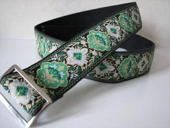 Handmade Green Women's Belt - Emerald