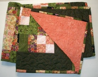 Wall Hanging - Baby Quilt - Extra large - Table Topper, Quiltsy Handmade