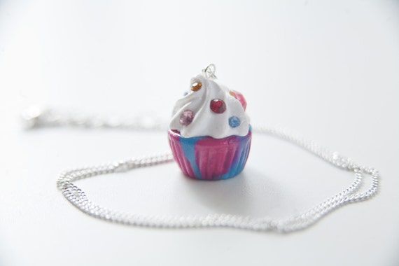 She's the First Cupcake Necklaces