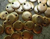6  Mini Gold Stamping Discs