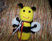 Crocheted  Bumble Bee Toy  for Baby  OR Children of Any Age - Unique Gift - Yellow and Black