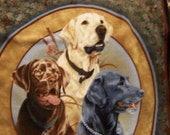 TRIO OF DOGS - Homemade Fleece  Dual Layer Tie or Sewn  Blanket Throw - Awesome Gift - 43 x 55