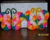 Crocheted Refrigerator Butterfly Magnet -Unique - Gift - Decorative