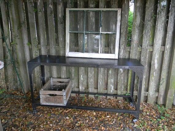 Industrial Zinc Sofa Table