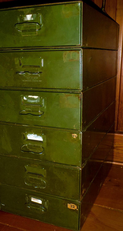 Vintage Diebold Safe T Stack Industrial 6 Drawer Cabinet