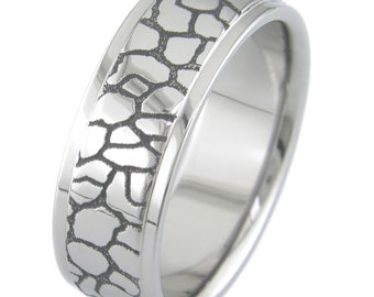 The Straight and Narrow Path Titanium Ring