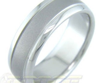 Accents with Satin Band Titanium ring