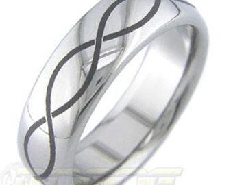 Laser Infinity Titanium ring