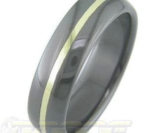 Black Zirconium with Gold Inlay