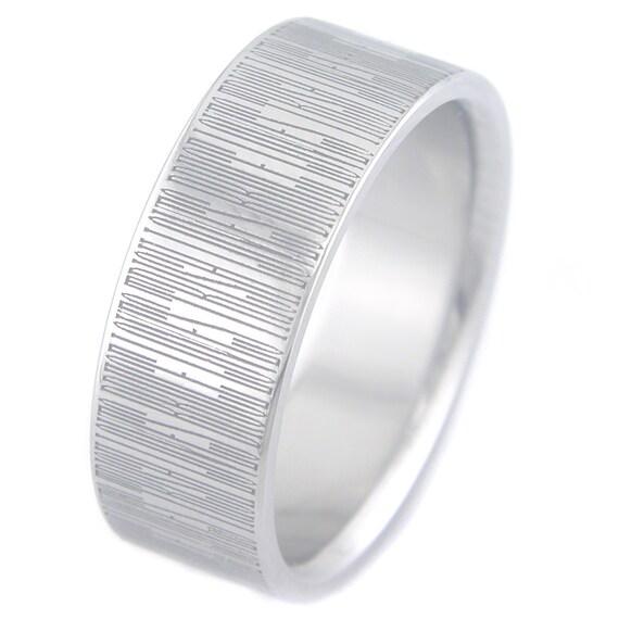 Secret Text Titanium Ring