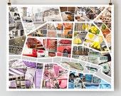 Paris in Color, Paris Map Art Print, Paris Poster Print,Paris Photography, Nichole Robertson