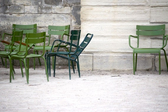 Paris Photo - Green Chairs from the Tuileries Garden