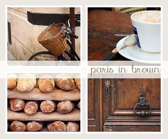 SALE 8x10 Photo Collection, Paris in Brown