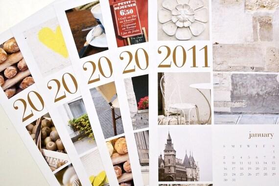 SALE - 2011 Paris Poster Calendar, 2 for 25